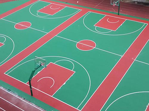 硅pu篮球场             实木地板篮球场 丙烯酸篮球场